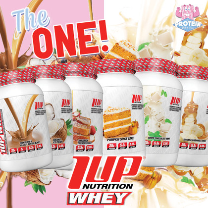 Cinnamon French Toast? Pumpkin Spice Cake?! 1-UP Whey Protein arrives in the Mix!