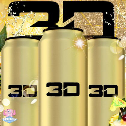 All that glitters is... GOLD! Pina Colada 3D Energy is served!