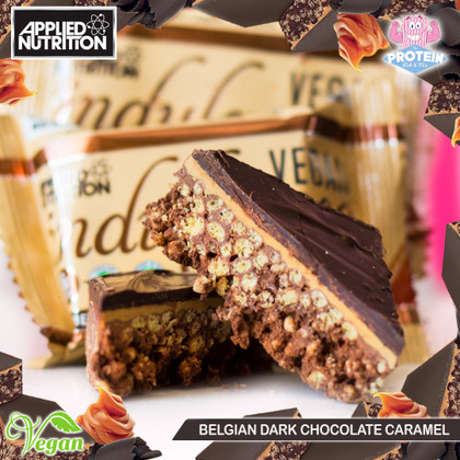 Vegan, but still incredibly 'indulgent'...Applied Nutrition release Belgian (Dark) Choc Caramel Indulgence Square!