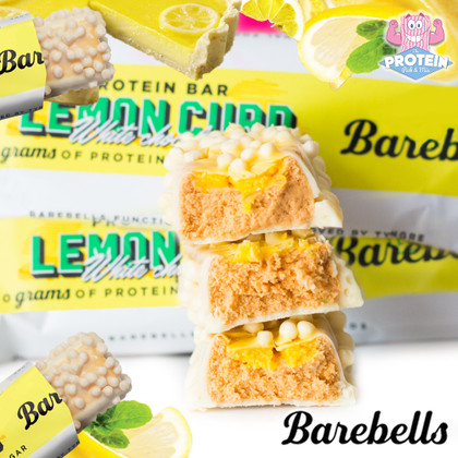 Simply the ZEST! Barebells' luscious Lemon Curd White Choc bar has turned up in time for tea!
