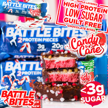 ...and you thought Xmas only came once a year?! Time to unwrap *Ltd Edition* Candy Cane Battle Bites