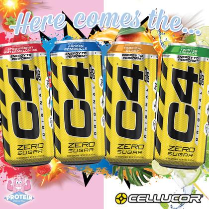 Cellucor C4 Original Zero Sugar Energy Drinks arrive with a BOOM!