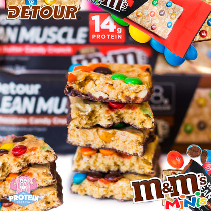Love M&M's but don't want to take a DETOUR from your diet? We've got the protein bar for you!