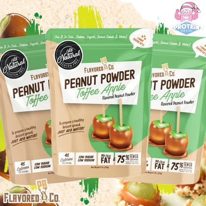 Flavored PB Co add tasty Toffee Apple to their dessert-inspired powdered PB line-up!