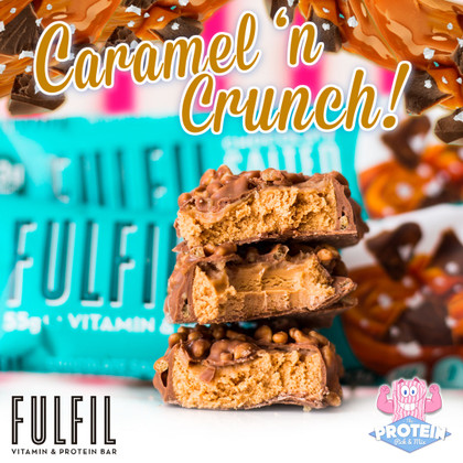 Best Fulfil Bar flavour yet?! Chocolate Salted Caramel 'fulfils' our expectations and then some!