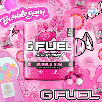 Kickass and...drink BUBBLEGUM! G-Fuel's take on this classic chewable candy has burst into the Mix!