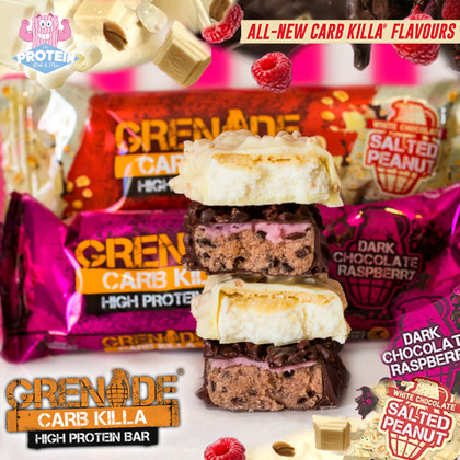 Grenade give their 'Snacking Revolution' both barrels with not one but TWO new Carb Killa's!