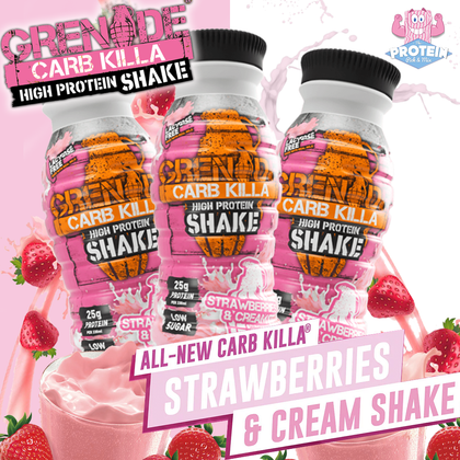Back in...PINK?! Grenade '(milk)shakes' things up with their new Strawberries & Cream Shake!