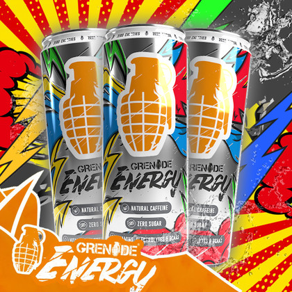 Grenade's sugarfree ENERGY drinks explode into the Mix!