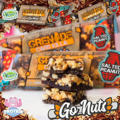 Grenade goes Vegan!! Nuts on nuts and nuttin' artificial in new 'Go Nuts' Carb Killa's
