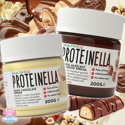Smooth and spreadable, HealthyCo combine a Nutella style base & protein into two delicious low sugar spreads!