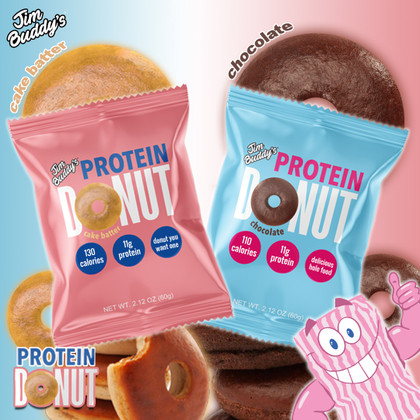 Jim's BACK with his protein-packed Cake Batter & Chocolate ring-shaped dough-y delights!