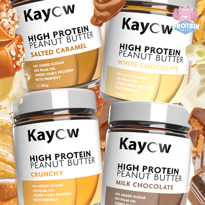 New High Protein Peanut Butters arrive with a... KAYOW!!