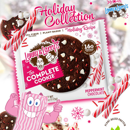 Cater to those Christmassy Cookie Cravings with Peppermint Chocolate Lenny & Larry's!