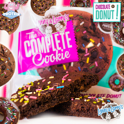 Lenny & Larry's Choc Donut Cookie is in the Mix! Donutty? Not a bit. But delicious? You bet!!