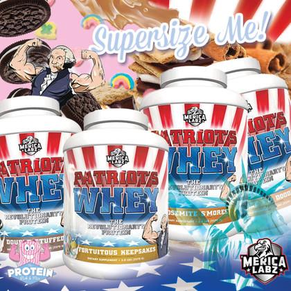 U-S-A, U-S-A! 'Merica Labz Patriot's Whey...the Revolutionary's Revolutionary Protein!