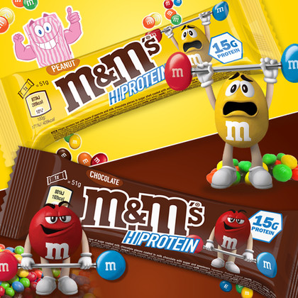 M&Mmmnnnn!! Mars' M&M's Hi-Protein Bars bring authentic choc candy crunch to the Mix!