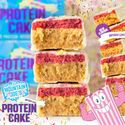 Beat the Monday blue's with Mountain Joe's Birthday Protein Cake!