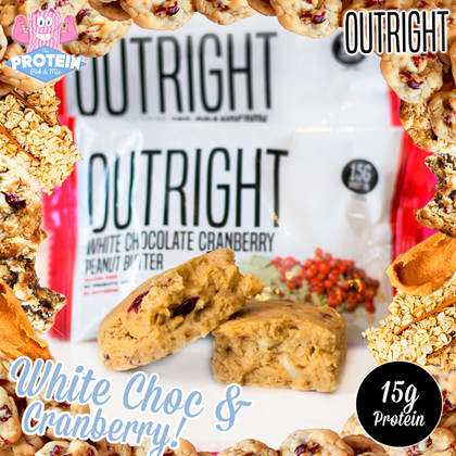 OUTRIGHT bars get White Choc Chips and juicy Cranberries in Marc's latest flavour!