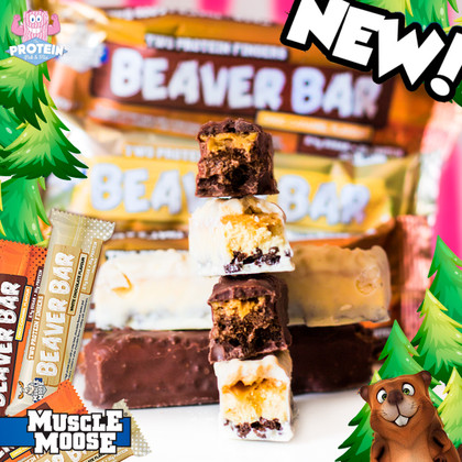 From 'Muscle Mooses' to 'Burly Beavers'...Muscle Moose launch Twix-style low sugar Beaver Bars!