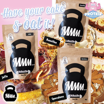 'Have your cake and OAT it!' New My Muscle Mug Oat Mixes available now!