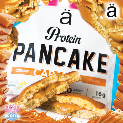 Fresh-baked and full of CARAMEL... Ä Nano Caramel protein pancakes are here!