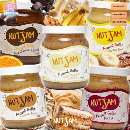 Nut Jam PB is here to ROCK your world! A symphony of naturally flavoured goodness jazz'd up with tasty creative inclusions!