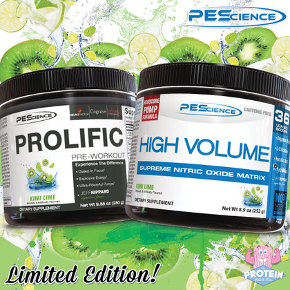 PEScience Limited Edition Kiwi Lime Flavour High Volume & Prolific Now Available!