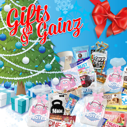 Give the gift of GAINZ this Christmas with our cute, themed protein-packed gift bundles!