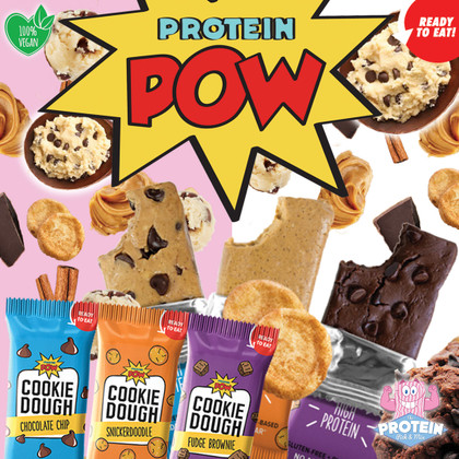 (Protein)POW, BLAM and KABOOM! Protein Pow Cookie Dough bars...you 'dough' you want 'em!!