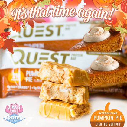 Quest's Limited Edition Pumpkin Pie protein bar is back for another year!