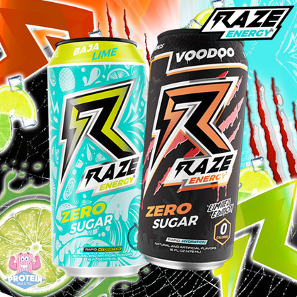 From Baja sunrises to Voodoo sunsets, this new flavour pair from RAZE Energy pack a punch!