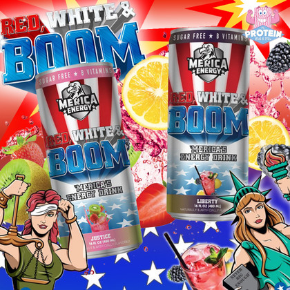 For Liberty and Justice... Red, White & Boom bless the Mix with two more explosive, fruity flavours!