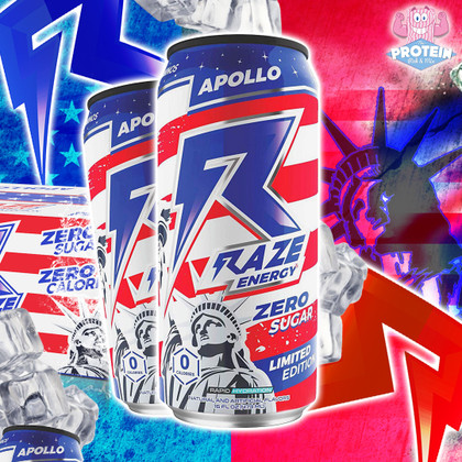 We have LIFT-OFF! Limited Edition RAZE Apollo in refreshing 'red, white and blue' flavour is in!