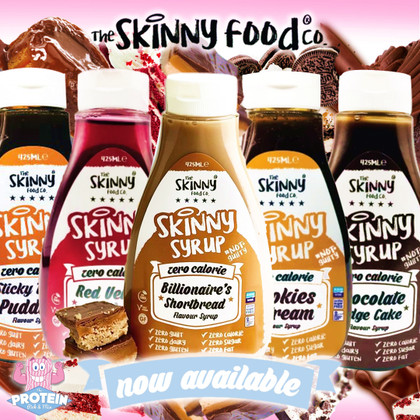 Gimme FIVE!! Yep, we've much to celebrate as Skinny Food Co's 'Cake Collection' Syrups have arrived!