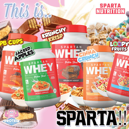 THIS IS SPARTA!! Sparta Nutrition Whey has arrived in the UK at the Mix!