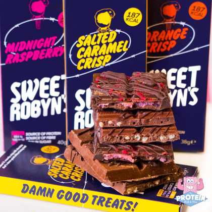 Sweet Robyn's release 3 irresistible, low sugar, Protein Chocolate Bars!