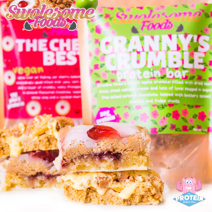 Swolesome 'Cherry Best' and 'Granny's Apple Crumble' are fresh-baked and ready to be 'picked!'