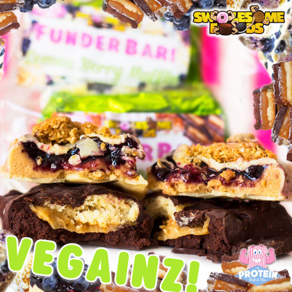 Not 1, but 2 NEW FunderBars... Caramel Shortbread & Lemon Berry Muffin join the Swolesome FunderBar range!