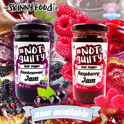 Raspberry & Blackcurrant...get 'stuck' into the latest fruity faves in the Skinny Food Co Jam range!