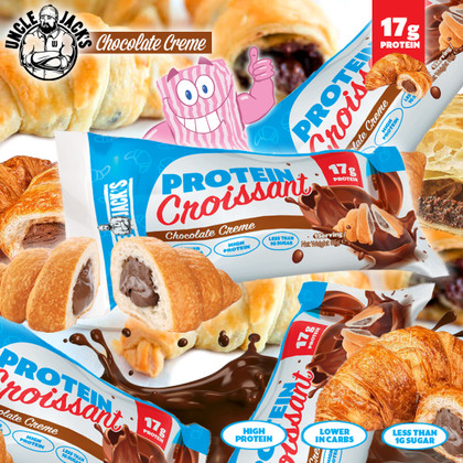 Pastries JUST got Justifiable...Uncle Jack's Chocolate Filled Protein Croissants are here!