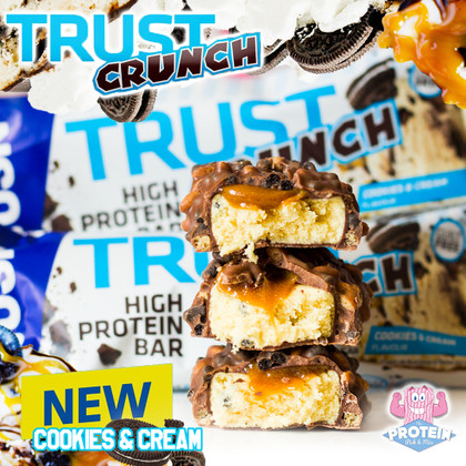 TRUST in the CRUNCH! USN's latest Cookies & Cream TRUST Crunch bar available now!