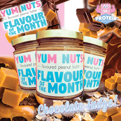 Yum Nuts Flavour of the Month for July... Chocolate Fudge!