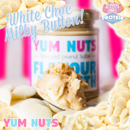 Yum Nuts have taken the Milky Bar... and put it in the jar!