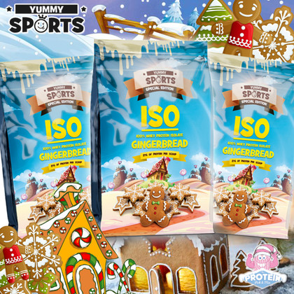 New & improved seasonal Gingerbread ISO-Protein flavour from Yummy Sports!
