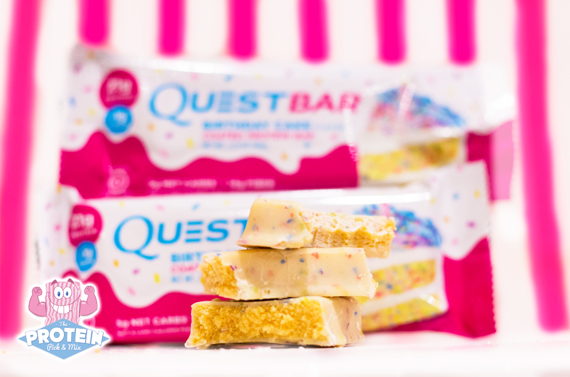 Quest NEW Coated Birthday Cake Protein Bar