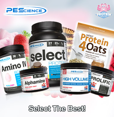 PEScience SELECT Protein and Supplements at The Protein Pick and Mix UK