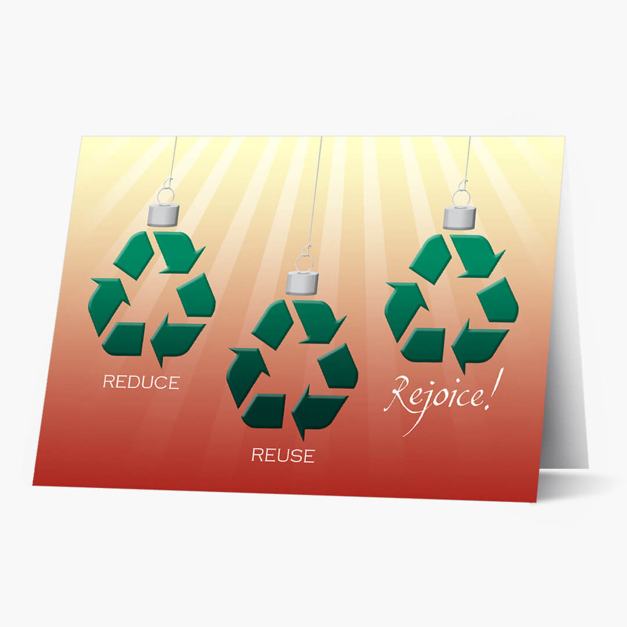 Recycle Symbol Christmas Cards Aaiyio Reduce Reuse Rejoice