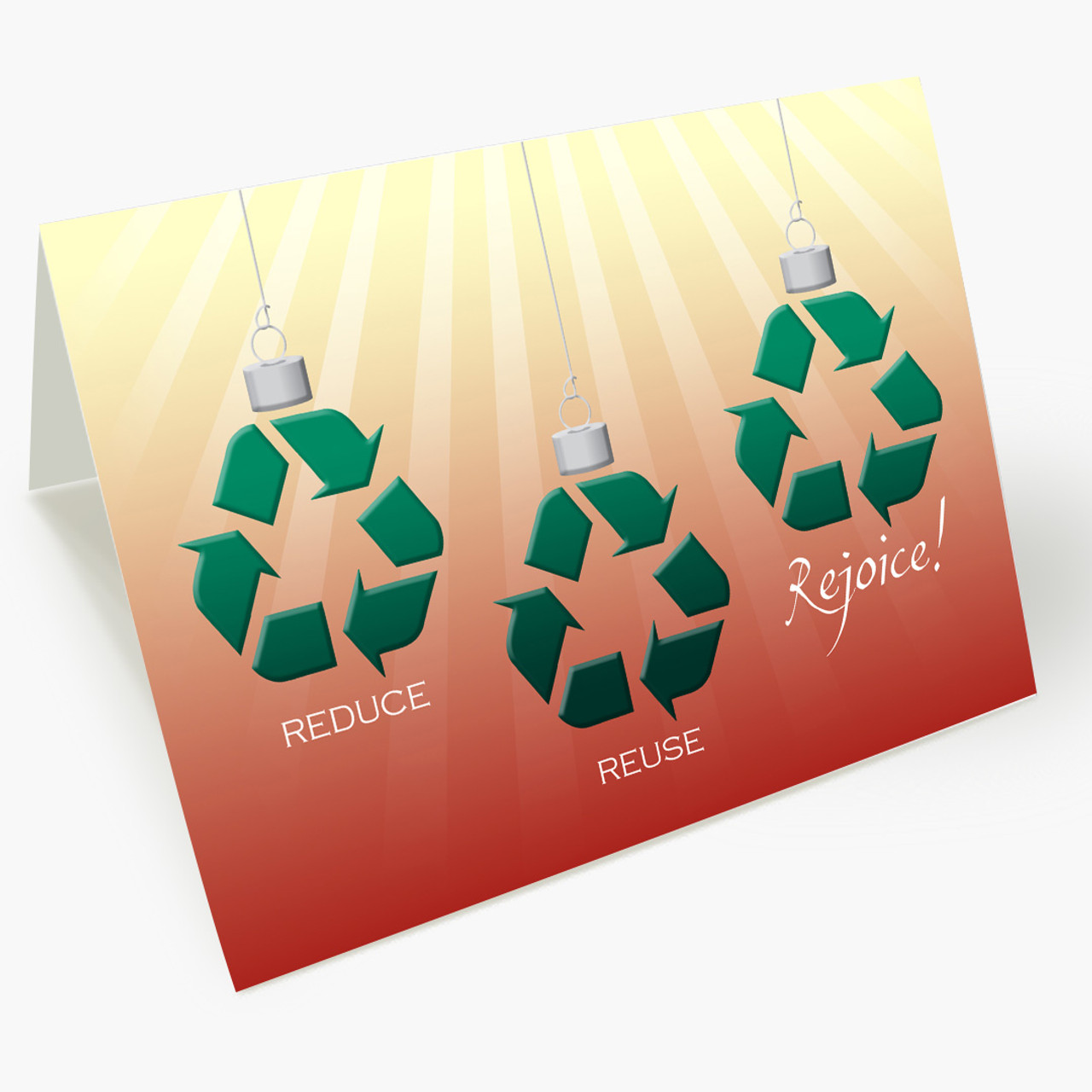 Recycled Ornaments Christmas Card
