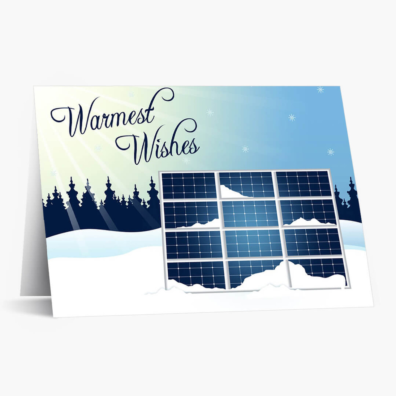 Solar Energy Wishes Christmas Card